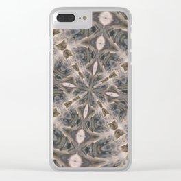 Water Splatter Kaleidoscope Clear iPhone Case