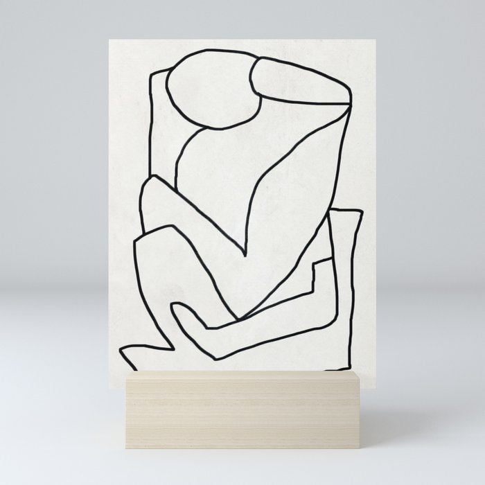 Abstract line art 2 Mini Art Print