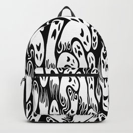 Flying Ghosts Spooky Halloween Pattern Backpack