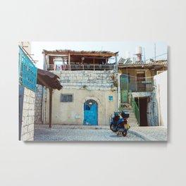 Blue in Safed Metal Print