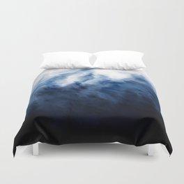 Storm - Black Blue White Abstract Duvet Cover
