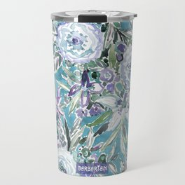 MAUI MINDSET Mystic Aqua Floral Travel Mug