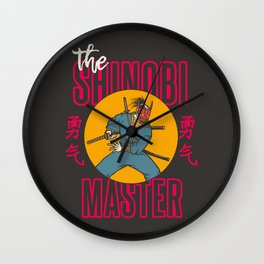 The Shinobi Master Wall Clock