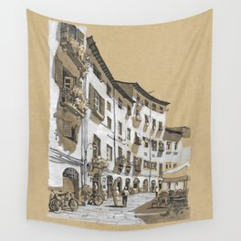 Piazza dell Anfiteatro, Lucca, Italy Wall Tapestry
