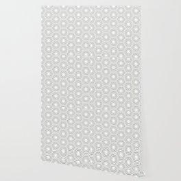 Silver Hexagon Mix Match Pattern Wallpaper