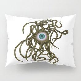 Evil Eye Halloween Creature Vector Gold Pillow Sham