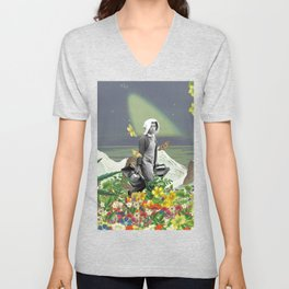 Trudge through a Fertile Field Unisex V-Neck