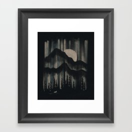 A Wolf in the Night... Framed Art Print
