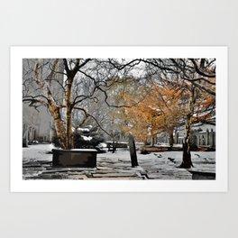 Heptonstall Churchyard Art Print