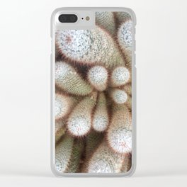 White cacti Clear iPhone Case