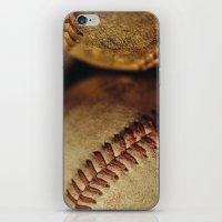 baseball iPhone & iPod Skins featuring Baseball by Chee Sim