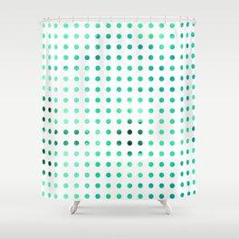 Polka Dot-Green Shower Curtain