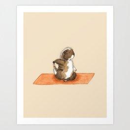 Yoguineas - Pigeon Pose Art Print