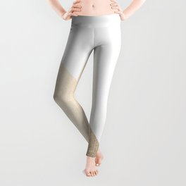 Simply Shadow in White Gold Sands Leggings