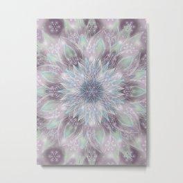 Lavender swirl pattern Metal Print