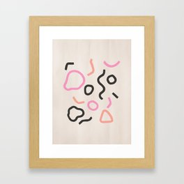 Pop Confetti Framed Art Print