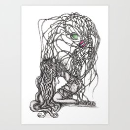 Unfortunate love story p1 Art Print