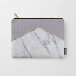 Smokey lilac - gold geometric marble Carry-All Pouch