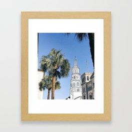 Charleston Steeple Market St Framed Art Print