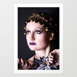 Gold Goddess II. Art Print