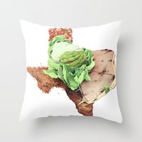 texas Throw Pillows featuring Texas by Kyle Fewell