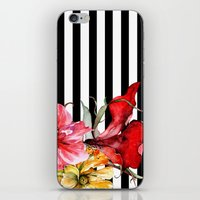 flora iPhone & iPod Skins featuring FLORA BOTANICA | stripes by Cheryl Daniels