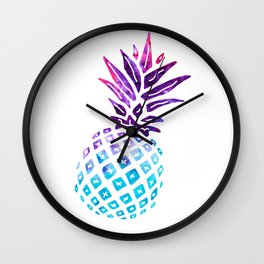 Pineapple Paradise - Ice Dye Wall Clock