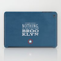 steve rogers iPad Cases featuring Steve Rogers by Bonnie Detwiller