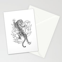 A Tiger and Some Tulips Stationery Cards