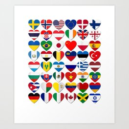 Flags of the Countries of the World,International Gift Shirt Art Print