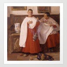 José Benlliure Gil , 1855 - 1937, Altar boys Art Print