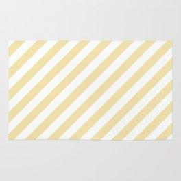 Diagonal Stripes (Vanilla/White) Rug