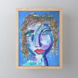 Meet Marisol, Queen of the Cul de Sac, an Intriguing Face Framed Mini Art Print