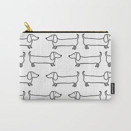 Dachshund in black-white Carry-All Pouch
