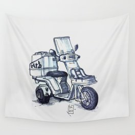 Honda delivery scooter japan Wall Tapestry