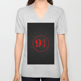 platfrom on the wall Unisex V-Neck