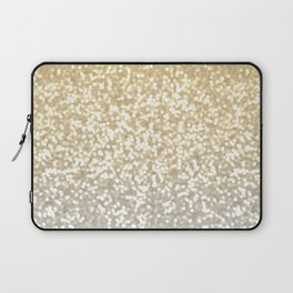 Gold and Silver Glitter Ombre Laptop Sleeve