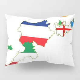 Map Of She Six Highest Ranked Rugby Teams Pillow Sham