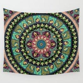 Avocado Yoga Medallion Wall Tapestry