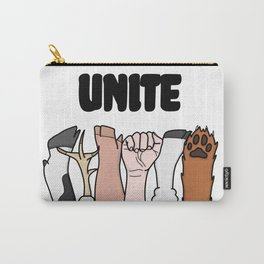 Unite Animal Equality Fists Carry-All Pouch