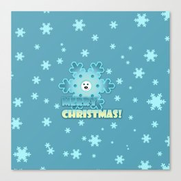Fun snowflake Canvas Print