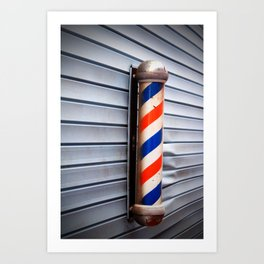 Vintage Barber Pole Art Print