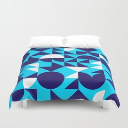 geometric blue Duvet Cover