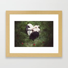 Midnight Roses Framed Art Print