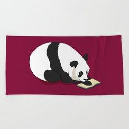 Reading Panda Beach Towel
