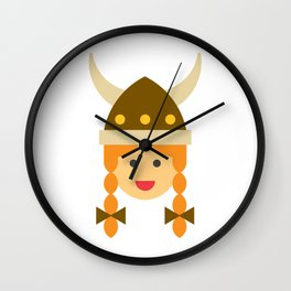 a viking girl Wall Clock