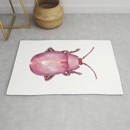 Pink beetle Rug