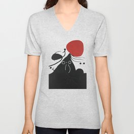 Joan Miro, FEMME DEVANT LE SOLEIL I, Woman Before The Sun I Artwork, Prints, Tshirts, Posters, Men, Unisex V-Neck