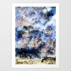 Blue Textures Art Print