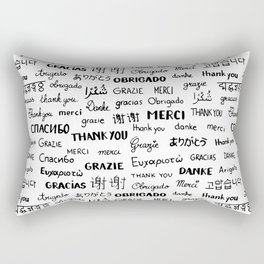 Thank you pattern Rectangular Pillow